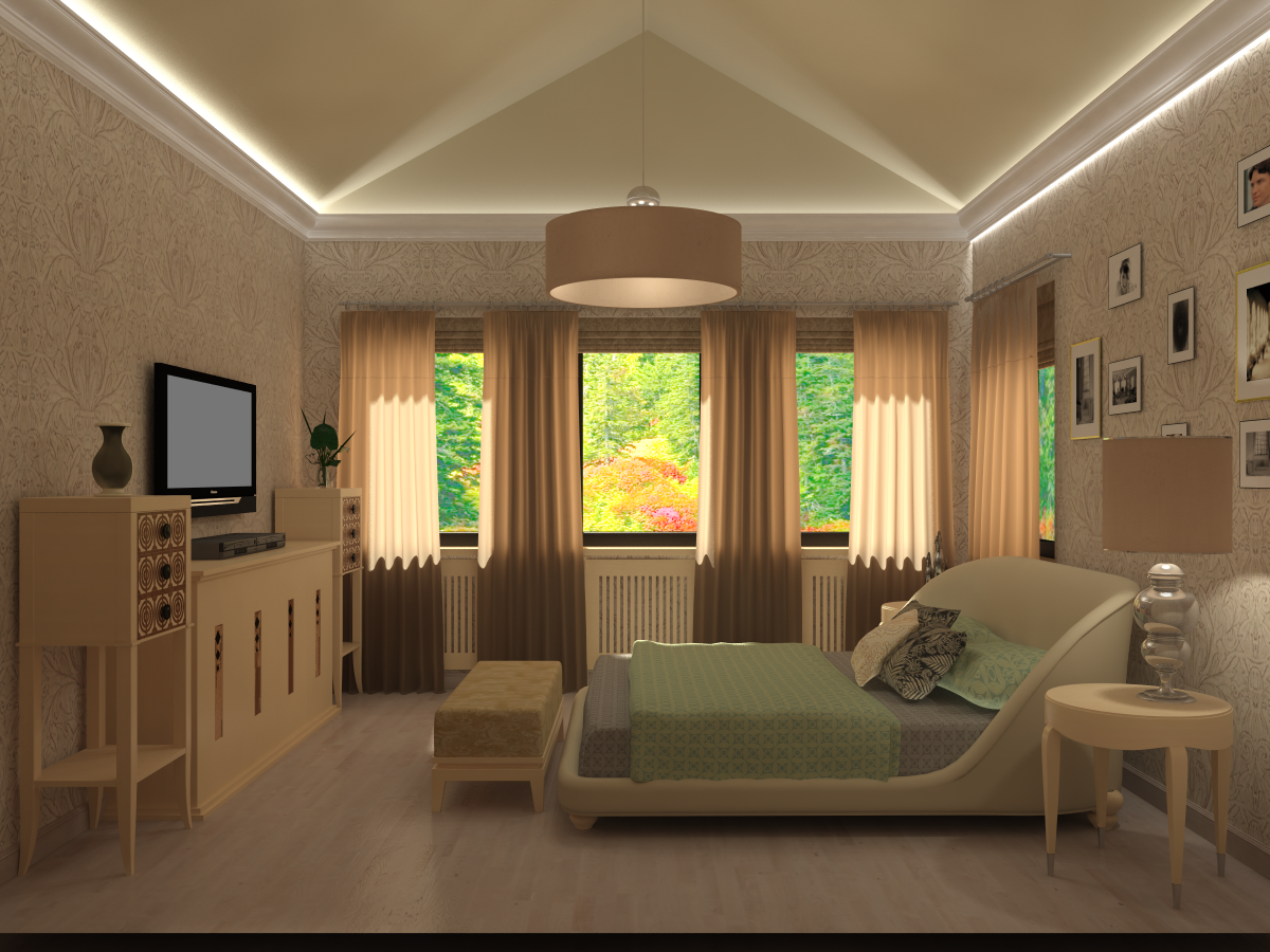 гостевая спальня под скошеной крышей