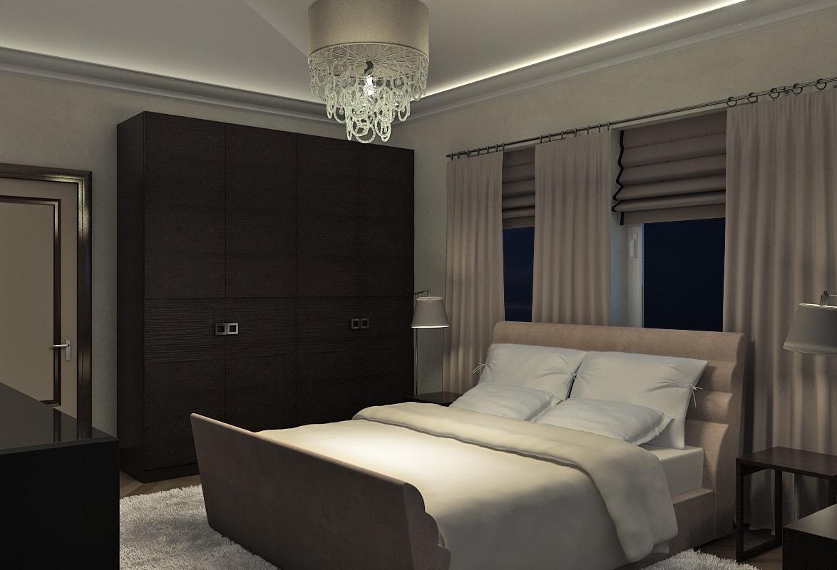 Хозяйская спальня в мансарде