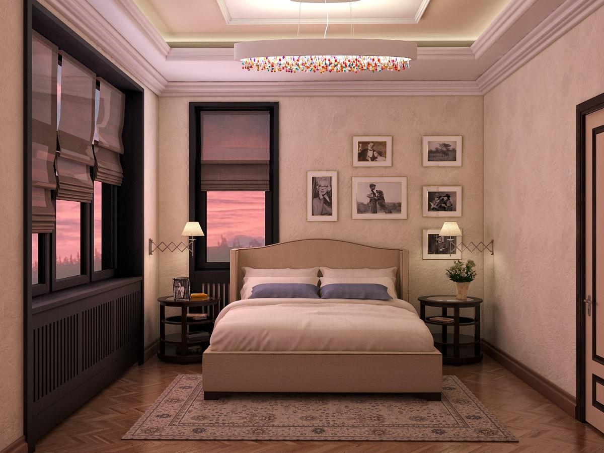 Хозяйская спальня в таунхаусе